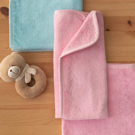 Βρεφικές Πετσέτες 40X60 (Σετ 2 Τμχ) Palamaiki Baby Bath Robin Ciel