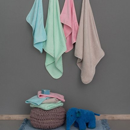 Βρεφικές Πετσέτες 40X60 (Σετ 2 Τμχ) Palamaiki Baby Bath Robin Mint