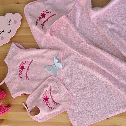 Βρεφικό Σετ Λουτρού (3 Τμχ) Palamaiki Baby Joia Bj524 Pink