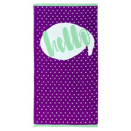 Πετσέτα Θαλάσσης 70x140 Nima - Leon Purple