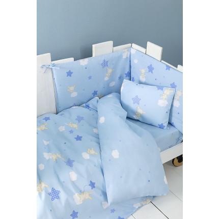 Κουβερλί Κούνιας Nima - Baby Star Blue