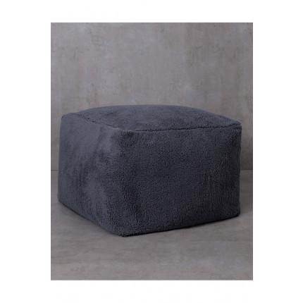 Πουφ 50x50x35 Nima - Wooly Gray