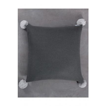 Μαξιλάρα Δαπέδου 70x70 Pom Pom Nima - Soft on Gray