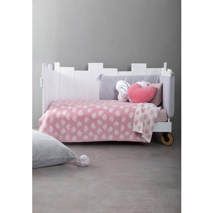 Κουβέρτα Λίκνου Πλεκτή 80x110 Nima - Candy