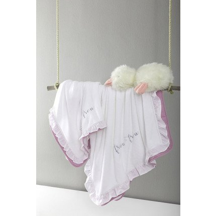 Κουβέρτα Λίκνου Fleece 80x110 Nima - Frou Frou