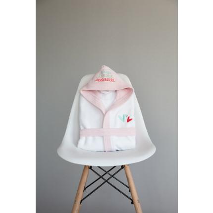Μπουρνούζι - No 4 Nima - Rainbow Hearts Pink