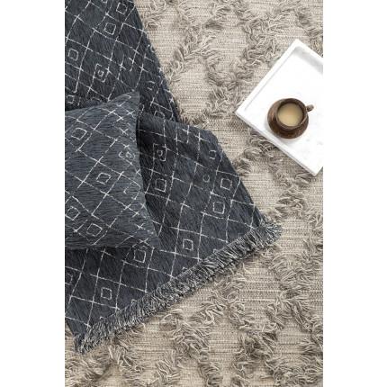 Διακοσμητικό Μαξιλάρι 45x45 Nima - Folk Dark Gray
