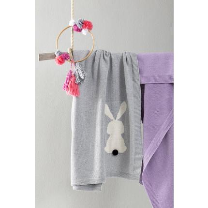 Κουβέρτα 90x130 Nima - Honey Bunny Gray
