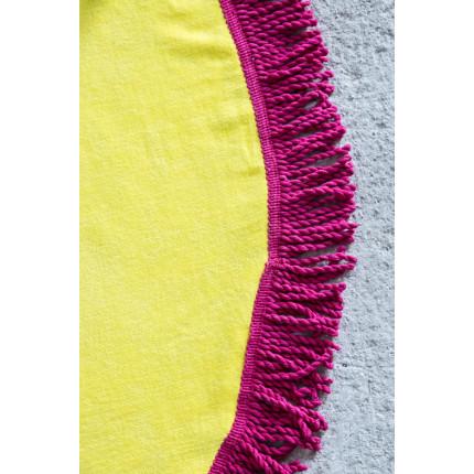 Πετσέτα Θαλάσσης Στρογγυλή R150 - Nima Vibe Yellow