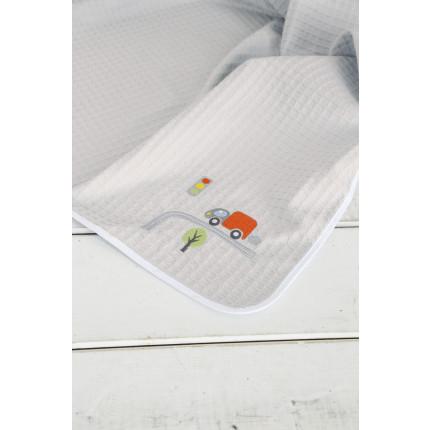 Κουβέρτα Πικέ Λίκνου 80x110 - Nima BeepBeep