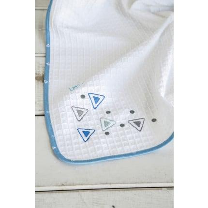 Κουβέρτα Πικέ Λίκνου 80x110 - Nima Blob