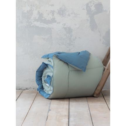 Παπλωματοθήκη Μονή (Σετ) 160x240 Nima Abalone Mint / Blue