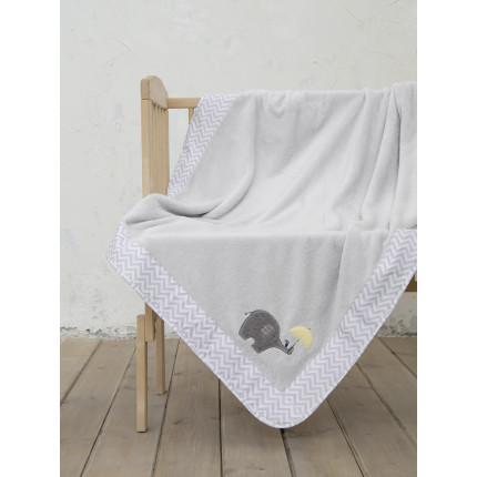 Κουβέρτα Fleece Κούνιας 110x140 Nima Elephantino