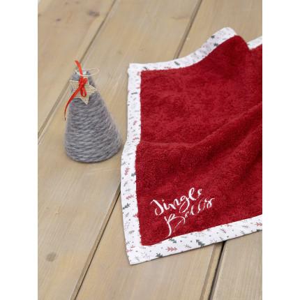 Χριστουγεννιάτικη Πετσέτα Κουζίνας 45x45 Nima Pinecone Red