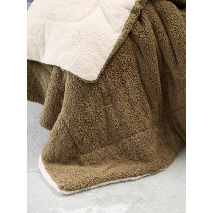 Κουβερτοπάπλωμα Μονό 150x220 Nima Melt Beige/Brown