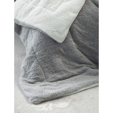 Κουβερτοπάπλωμα King Size 240x260 Nima Melt Mint/Dark Gray