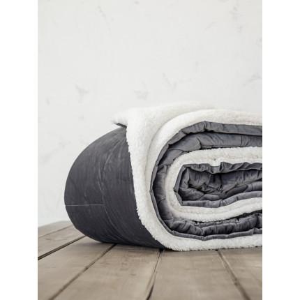 Κουβερτοπάπλωμα Μονό 150x220 Nima Nuan Dark Gray
