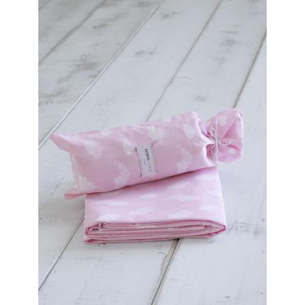 Σεντόνι Μεμονωμένο Μονό 170x255 Nima Nuage Pink Χωρίς Λάστιχο