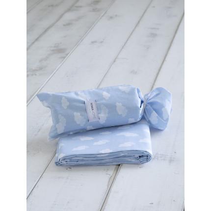Σεντόνι Μεμονωμένο Μονό 170x255 Nima Nuage Blue Χωρίς Λάστιχο