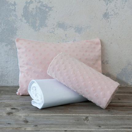 Σεντόνια Κούνιας (Σετ) 120X170 Nima Pookie Pink Χωρίς Λάστιχο