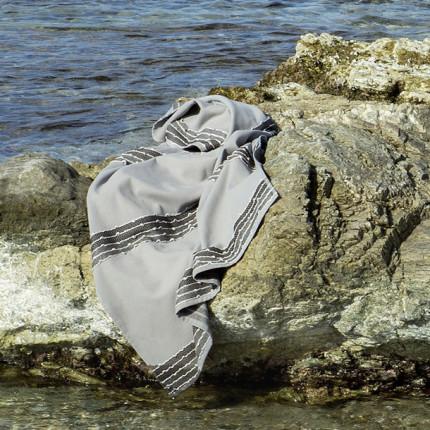 Πετσέτα Θαλάσσης 90X160 Nima Niel Gray