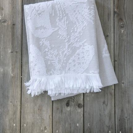 Πετσέτα Θαλάσσης 90X160 Nima Palmi Taupe