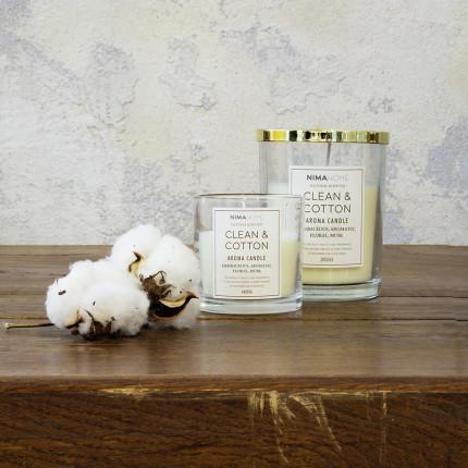 Αρωματικό Κερί 160gr - Nima Clean & Cotton