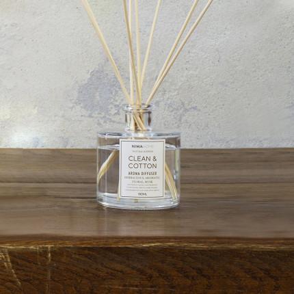 Αρωματικό Χώρου με Στικ 180ml - Nima Clean & Cotton