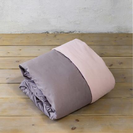 Παπλωματοθήκη Υπέρδιπλη (Σετ) 220X240 Nima Abalone Pink / Brown