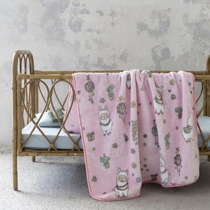 Κουβέρτα Βελουτέ Κούνιας 110X140 Nima Happy Alpaca