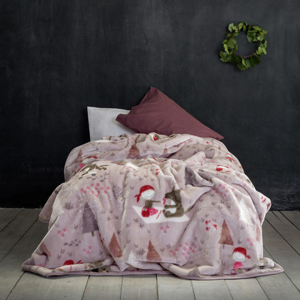 Κουβέρτα Βελουτέ Μονή 160X220 Nima Little Red Riding Hood