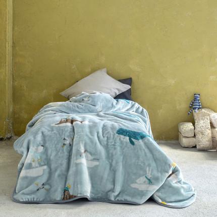 Κουβέρτα Βελουτέ Μονή 160X220 Nima Arctic