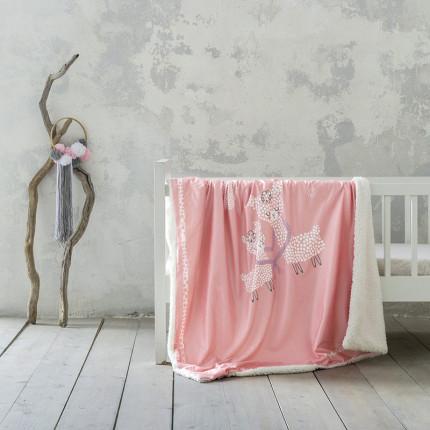 Κουβέρτα Fleece Κούνιας 110X140 Nima Llama Love