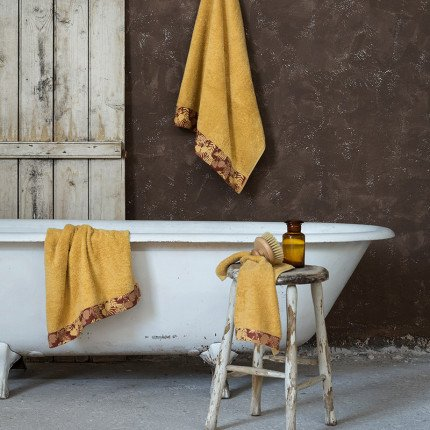 Πετσέτα Χεριών 30x50 Nima Nashrin Mustard Beige