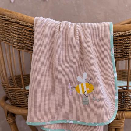 Κουβέρτα Πικέ Λίκνου 80x110 Nima Bumblebee