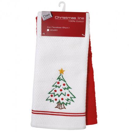 Πετσέτες Κουζίνας (Σετ 2 Τμχ) 40X60 Das Home Christmas 0601