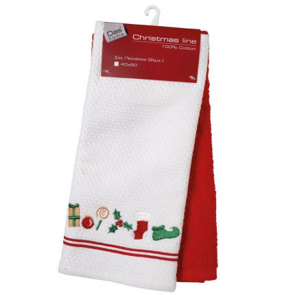 Πετσέτες Κουζίνας (Σετ 2 Τμχ) 40X60 Das Home Christmas 0602