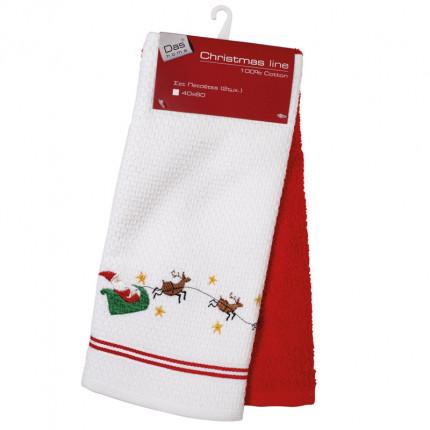 Πετσέτες Κουζίνας (Σετ 2 Τμχ) 40X60 Das Home Christmas 0603