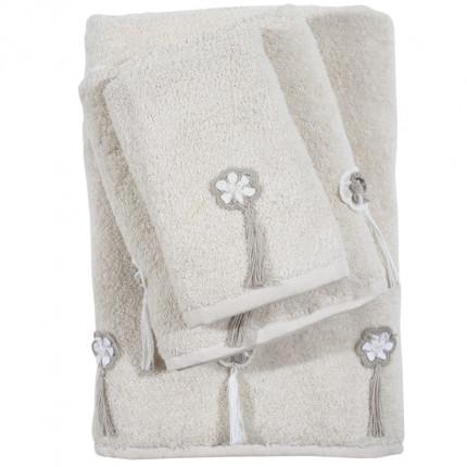 Πετσέτες Μπάνιου (Σετ 3 Τμχ) Das Home Soft Daily 0376 Μπεζ