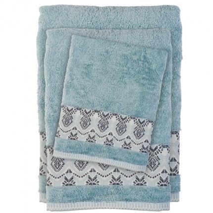 Πετσέτες Μπάνιου (Σετ 3 Τμχ) Das Home Soft Happy 0397 Γκρι