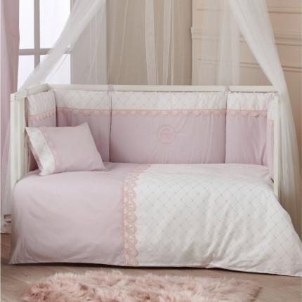 Παπλωματοθήκη Κούνιας (Σετ) 100X140 Kentia Serenity Beauty Ροζ