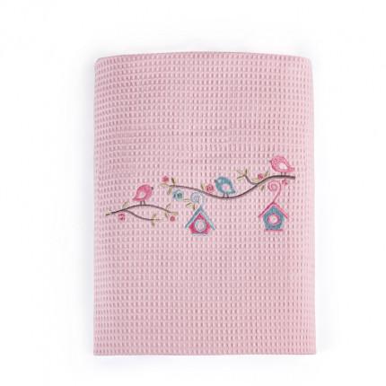 Κουβέρτα Πικέ Κούνιας 100X140 Kentia Stylish Nest Ροζ