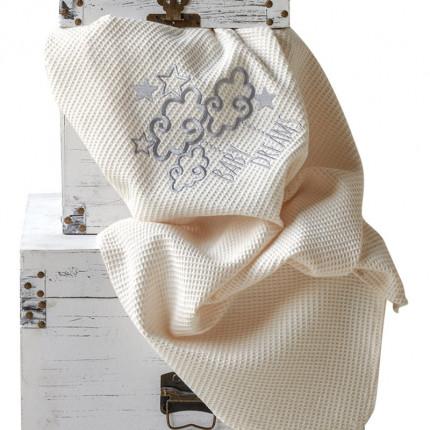 Κουβέρτα Πικέ Κούνιας 100X140 Kentia Serenity Baby Dream Γκρι