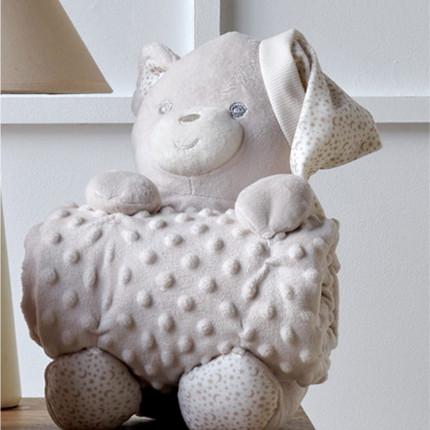 Κουβέρτα Fleece Αγκαλιάς 75X100 Kentia Versus Bear 12 Μπεζ