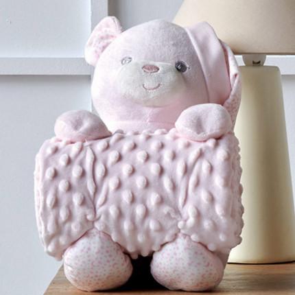 Κουβέρτα Fleece Αγκαλιάς 75X100 Kentia Versus Bear 14 Ροζ
