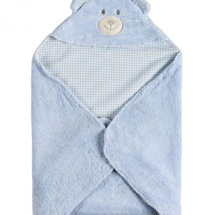 Κουβέρτα Fleece Αγκαλιάς 75X75 Kentia Versus Rocco 19 Γαλάζιο