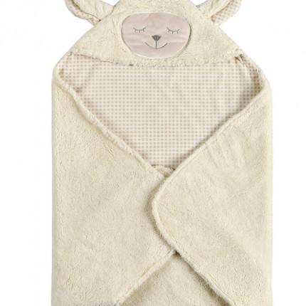 Κουβέρτα Fleece Αγκαλιάς 75X75 Kentia Versus Rocco 10 Μπεζ
