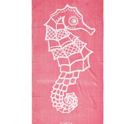 Πετσέτα Θαλάσσης 80X160 Kentia Loft Hipocampus Ροζ
