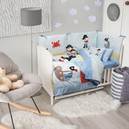 Πάντα Κούνιας 45x195 Das Home Dream Embroidery 6510 Γαλαζιο