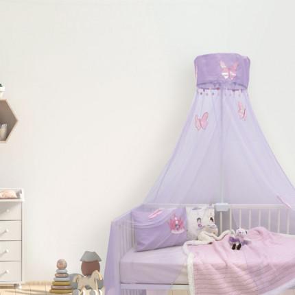 Κουνουπιέρα 200x500 Das Home Relax 6442 Λιλα-Ροζ